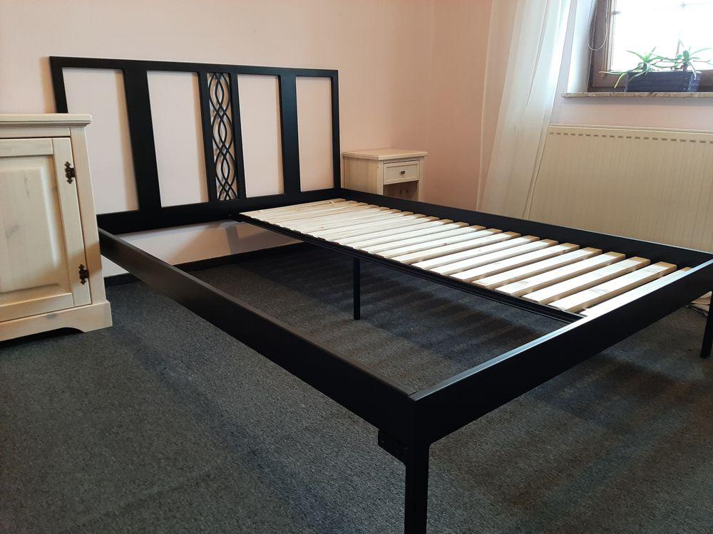 łóżko metalowe podwójne Lak System ze stelażem dzielonym